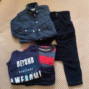 (5) Lot of boys clothing Sizes 2-3, 3T